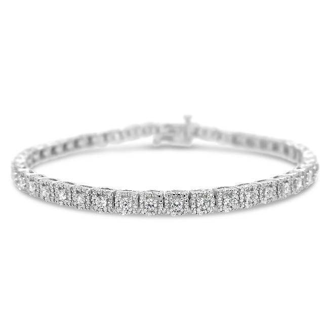 2.00 Carat Diamond Tennis Bracelet in 10K White Gold - 7.5""