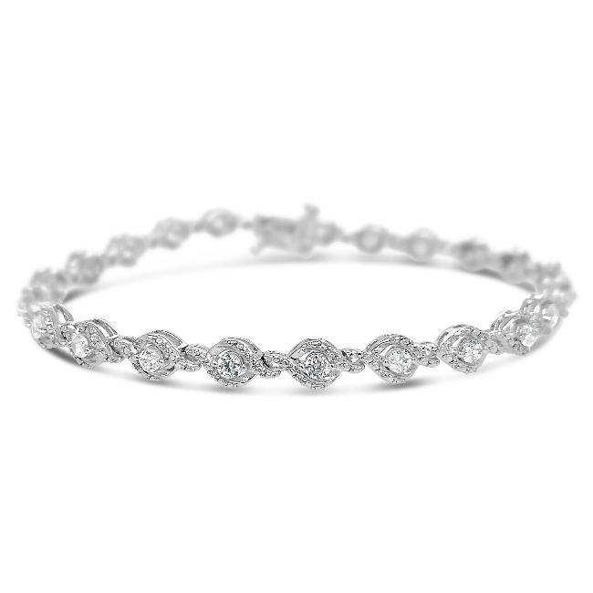 2.00 Carat Diamond Bracelet in 10K White Gold - 7.5""