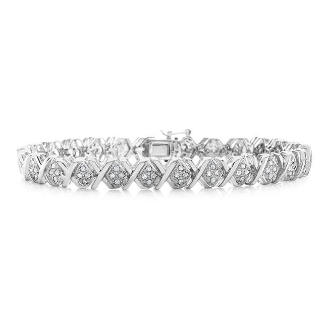 Sterling Silver 1.00 Carat Diamond Bracelet