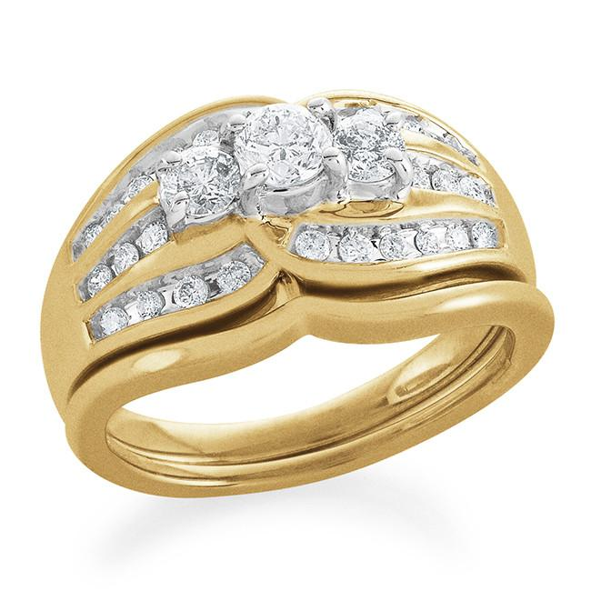 14K Yellow Gold 0.75 Carat Diamond Ring