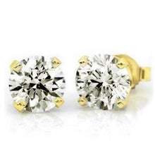 Load image into Gallery viewer, 3/4 Carat (.80ctw) Diamond Stud Earrings in 10K Yellow Gold (I-J;I2-I3)