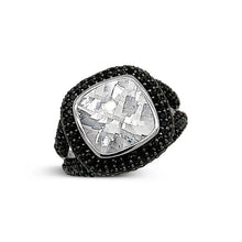 Load image into Gallery viewer, 5.00 Carat Genuine Goshenite & Black Spinel Ring in Sterling Silver