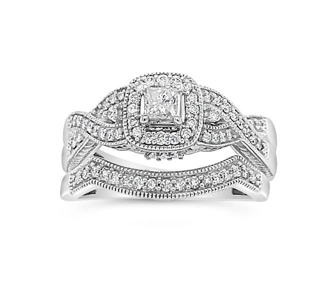 12_Carat_Diamond_Bridal_Set_in_10K_White_Gold__Size_7_HI_I2