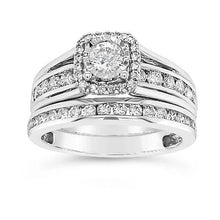Load image into Gallery viewer, 1.00 Carat Diamond Bridal Set in 10K White Gold (H-I, I1/I2)
