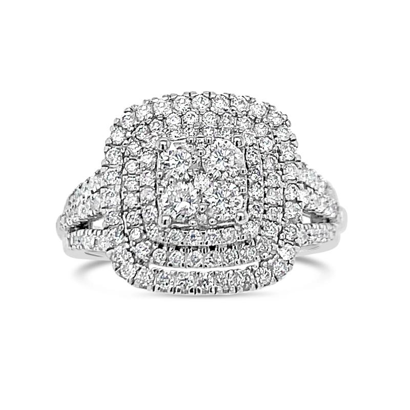 1.00 Carat Diamond Engagement Ring in 10K White Gold (H-I, I2)
