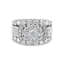 Load image into Gallery viewer, 4.04 Carat Diamond Engagement Ring in 14K White Gold (G-H,SI2)