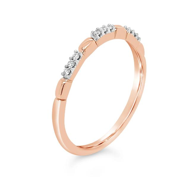 Diamond Accent Fashion Band in 10K Rose Gold