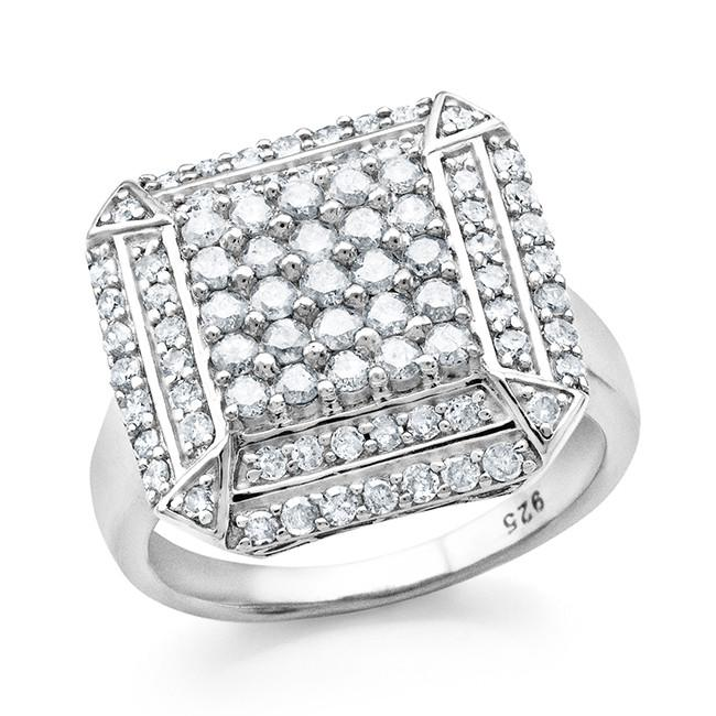 1.00 Carat Diamond Ring in Sterling Silver