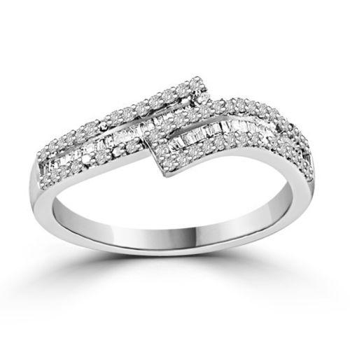 1/4 Carat  Diamond Band in Sterling Silver