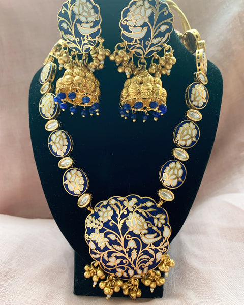 Shreya Blue Necklace Set