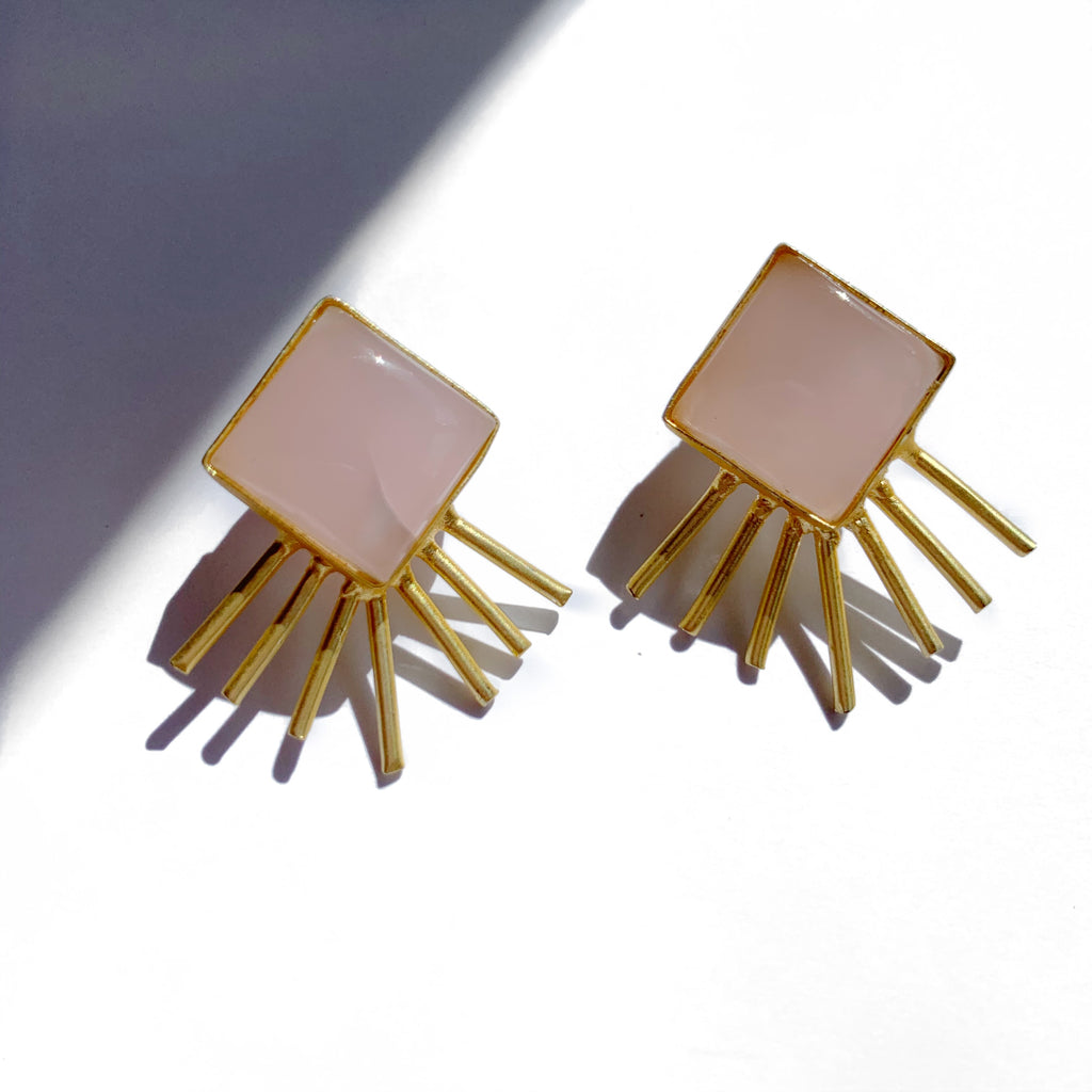 Layla Baby Pink Earrings