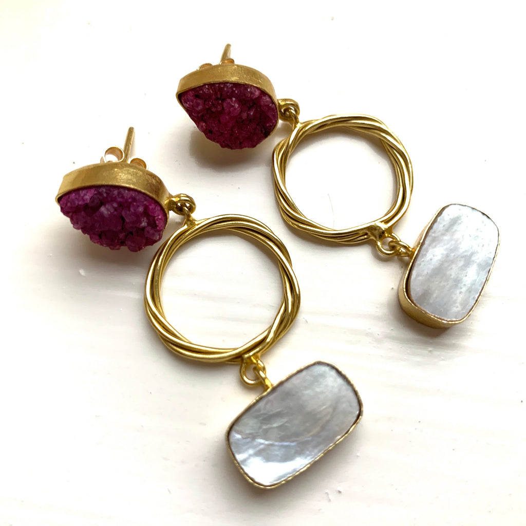 Piya Purple Earrings