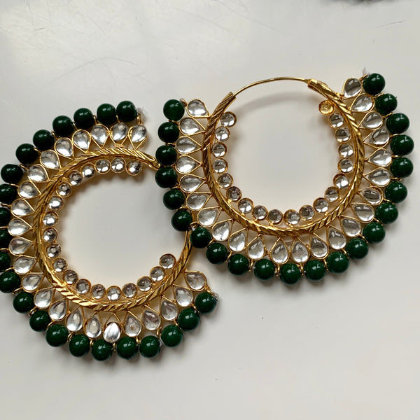 Kanika Forest Green Hoops