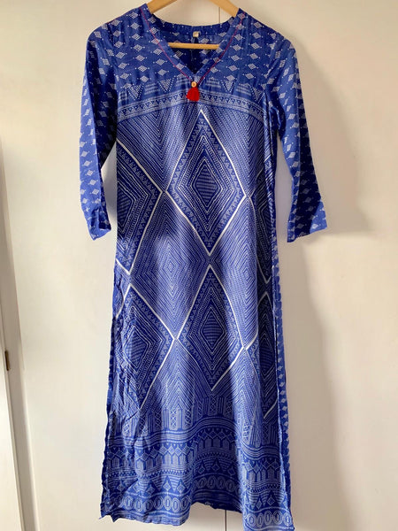 Navy blue printer Kurti