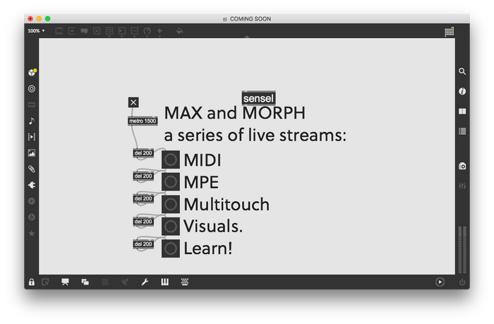 Max and The Morph: Live Tutorials