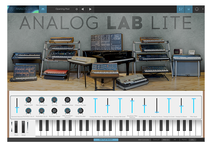 Arturia Analog Lab Lite: Free With Every Morph!