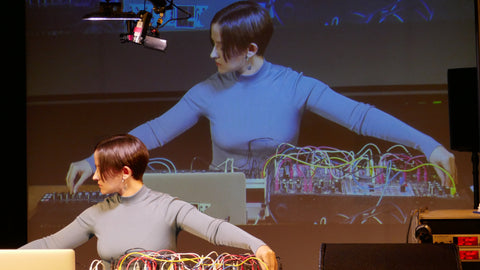 Caterina Barbieri performing mind altering synthesis.