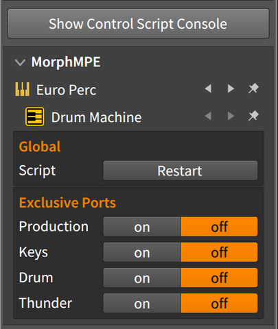Enable exclusive ports in the Studio I/O panel.