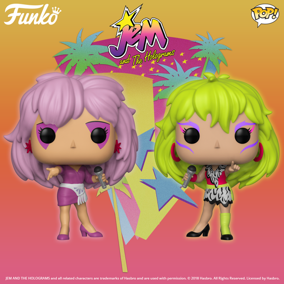 Funko POP! JEM AND THE HOLOGRAMS Are Coming Soon