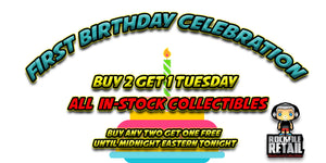 BUY 2 GET 1 FREE TUESDAY