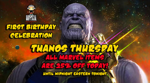 TODAY'S SALE EVENT: THANOS THURSDAY