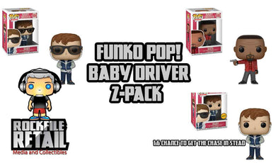POP! Baby Driver Baby and Bats 2-Pack Bundle