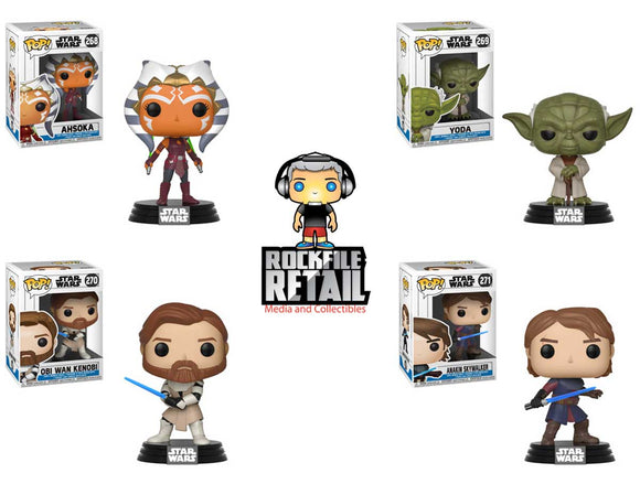 POP! Star Wars The Clone Wars 4-Pack Bundle (PRE-ORDER)