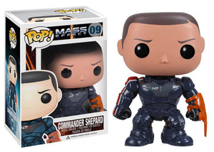 POP! Games Mass Effect COMMANDER SHEPARD (NOT Mint)