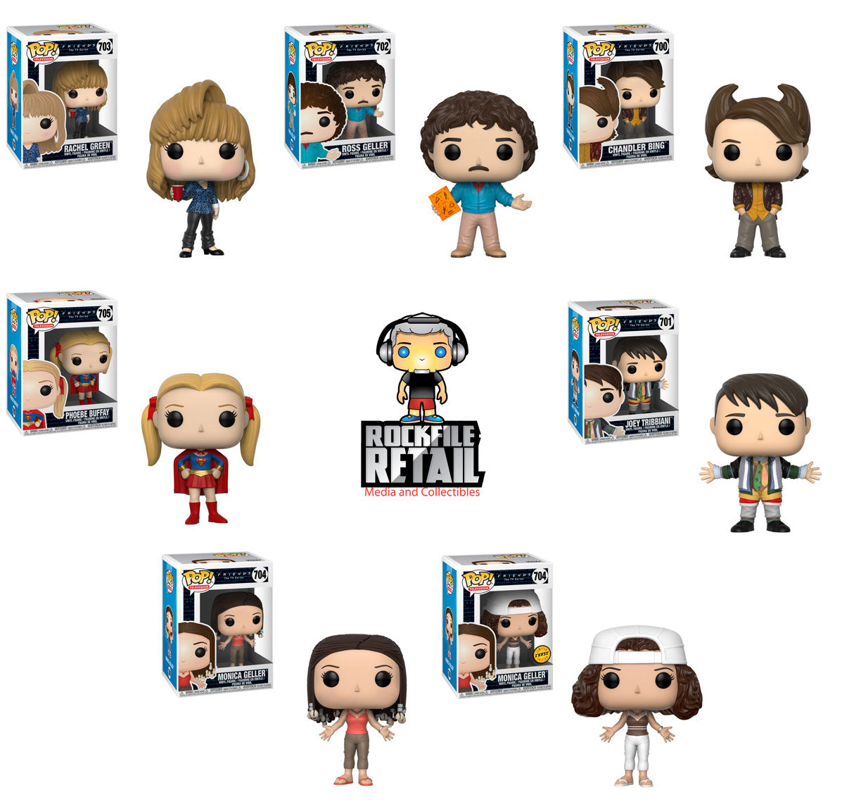 POP! Television Friends Series 2 Chase 7-Pack (PRE-ORDER)
