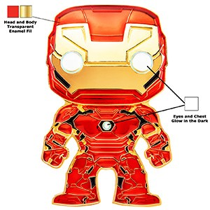 POP! Pin Marvel IRON MAN Enamel Pin (PRE-ORDER)