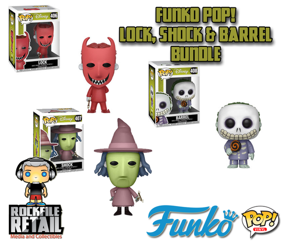 POP! Disney The Nightmare Before Christmas Lock, Shock & Barrel 3-pack bundle (PRE-ORDER)