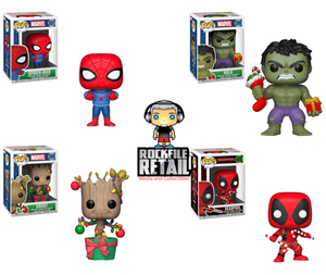Funko POP! MARVEL HOLIDAY 4-Pack Bundle