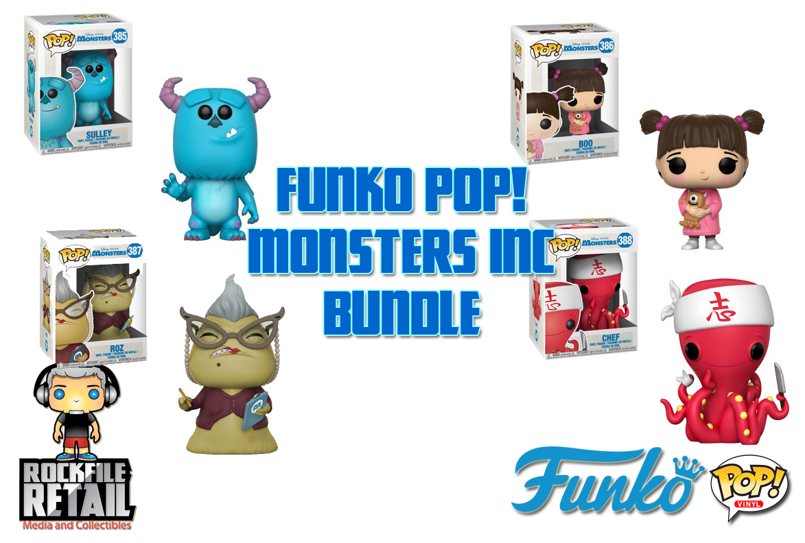 POP! Monsters Inc 4-Pack Bundle