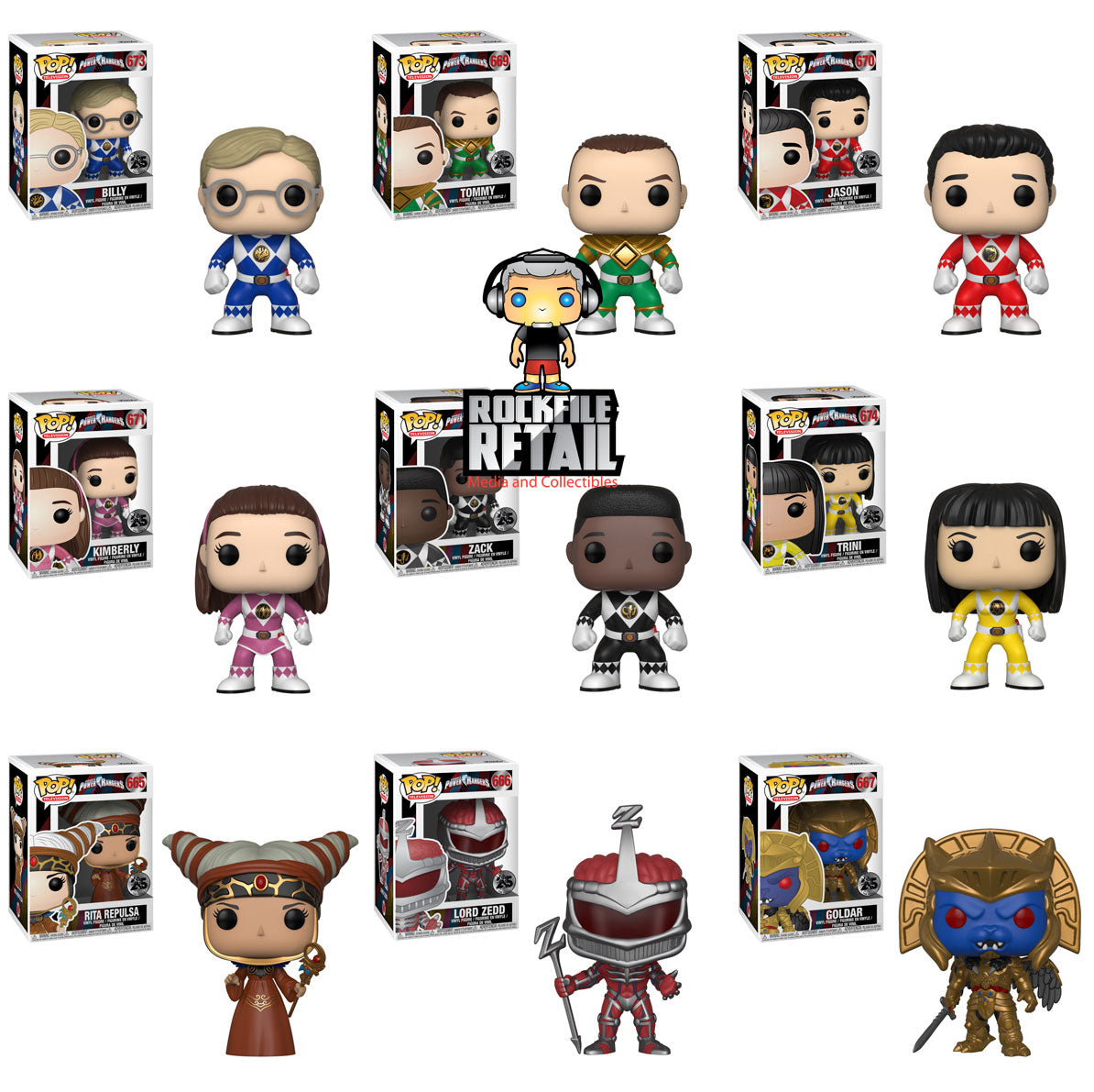 POP! Television Power Rangers 25th Anniversary 9-Pack Bundle (PRE-ORDER)