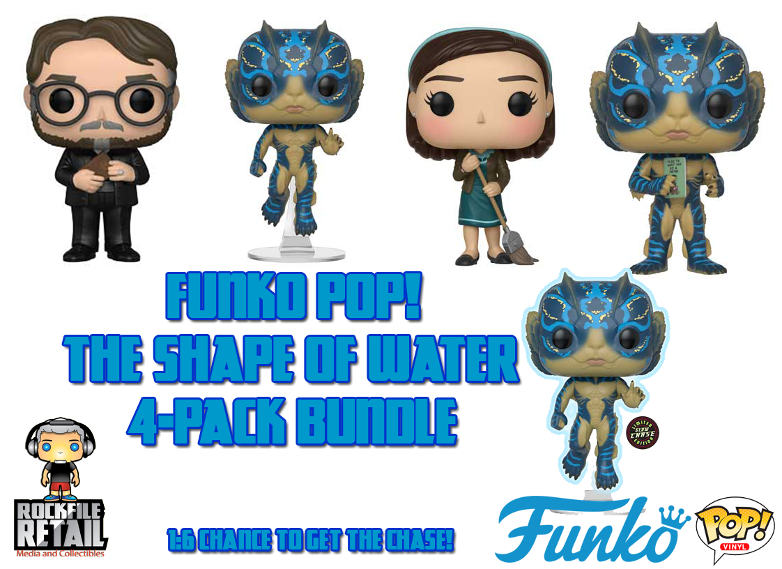 POP! The Shape Of Water 4-Pack Bundle (PRE-ORDER)
