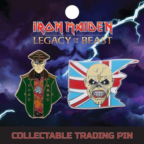 IRON MAIDEN Lapel Pin Set 1: Trooper And General