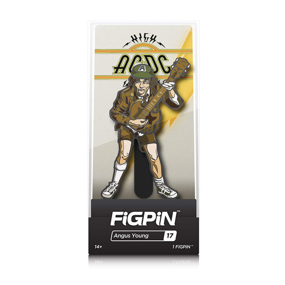 FiGPiN AC/DC High Voltage Angus Young Enamel Pin