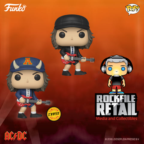 POP! Rocks AC/DC ANGUS YOUNG 2-Pack CHASE Bundle (PRE-ORDER) January Release