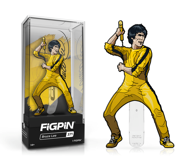 FiGPiN #371 BRUCE LEE (Yellow Suit) Enamel Pin (PRE-ORDER)