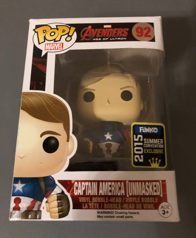 POP! Marvel Avengers 2 CAPTAIN AMERICA Unmasked (Exclusive)