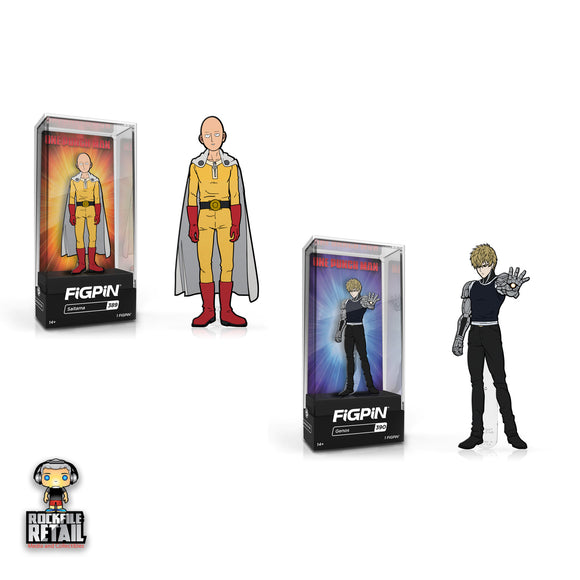 FiGPiN #389 & 390 One Punch Man Bundle Enamel Pin 2-Pack (PRE-ORDER)