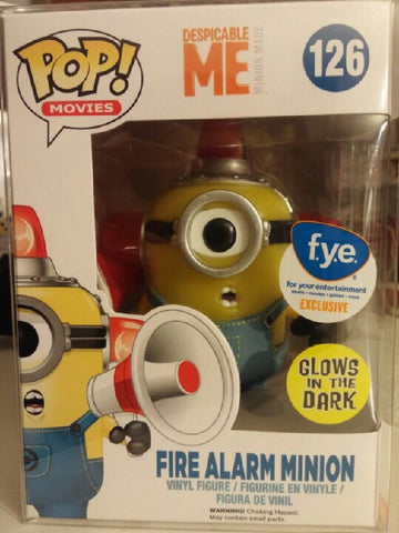 POP! Movies Despicable Me FIRE ALARM MINION GITD
