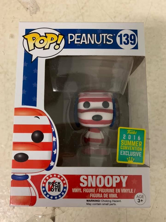 POP! Animation Peanuts SNOOPY (Patriotic exclusive)