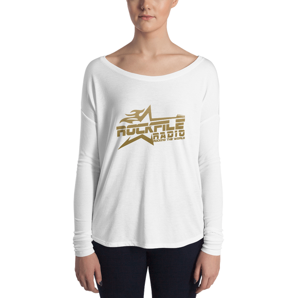 Rockfile Radio Logo Ladies' Long Sleeve Tee