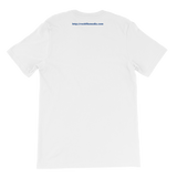 Rockfile Media Logo Pocket Web Address Back Short-Sleeve PREMIUM Unisex T-Shirt