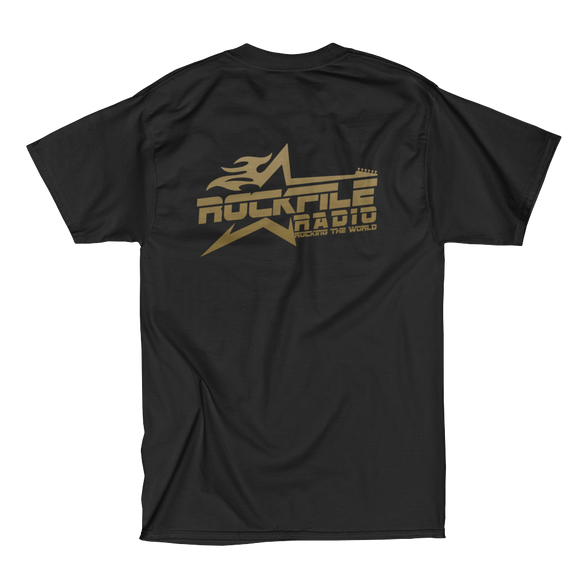 Rockfile Radio Logo 2-Sided Men's Short Sleeve Beefy-T Shirt