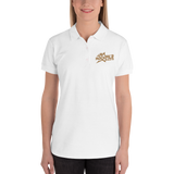 Rockfile Radio Logo Embroidered Women's Polo Shirt