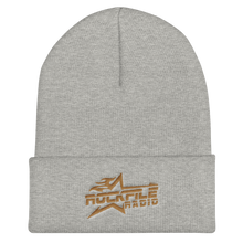 Rockfile Radio Logo Embroidered Cuffed Beanie