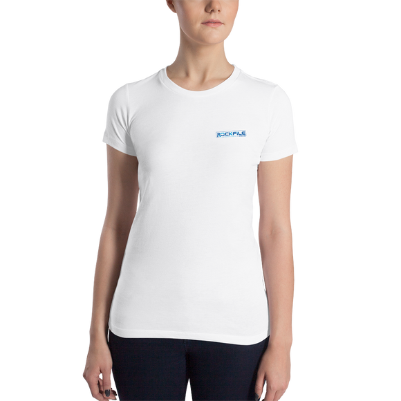 Rockfile Media Logo 2-sided Women's Slim Fit T-Shirt