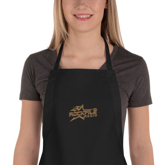 Rockfile Radio Logo Embroidered Apron
